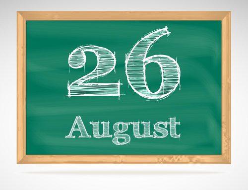 Am Mittwoch, den 26. August 2020